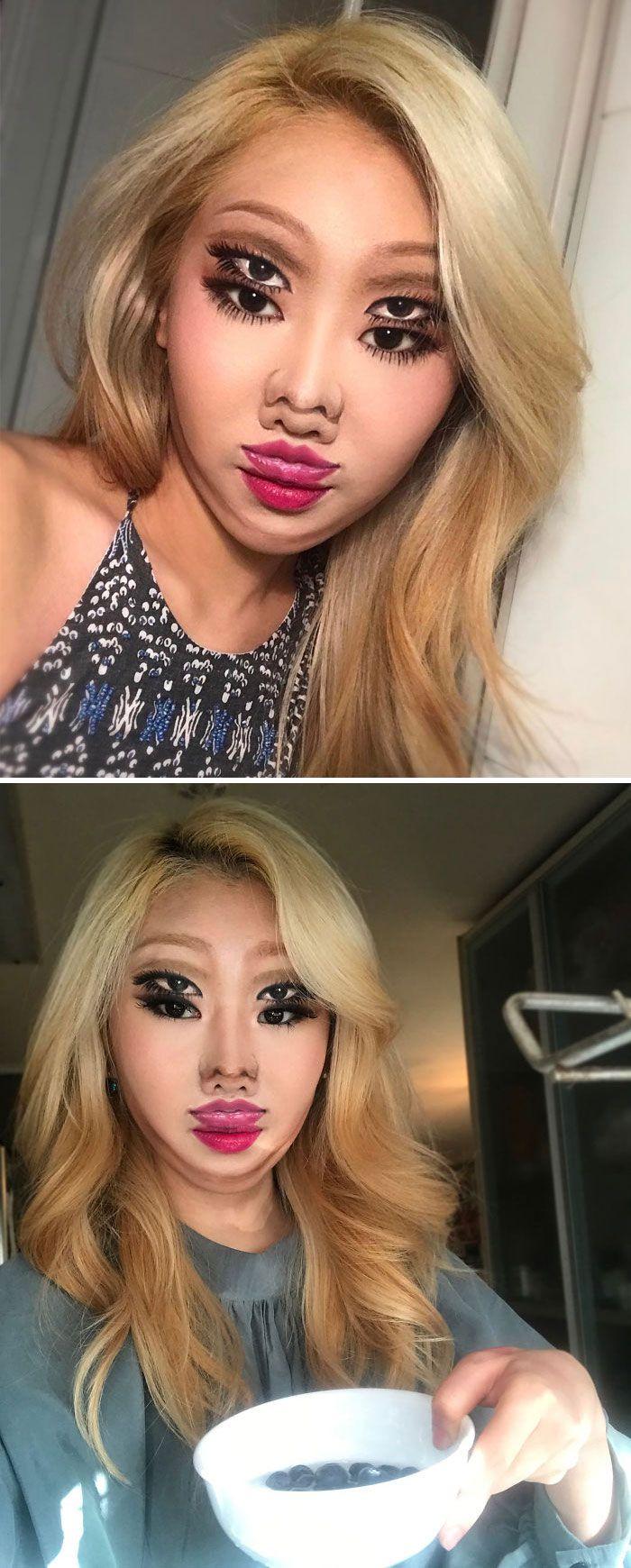 O que este artista faz com o rosto dela mexe seriamente com a sua mente (36 fotos) 20