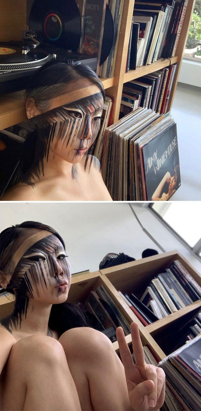 O que este artista faz com o rosto dela mexe seriamente com a sua mente (36 fotos) 21