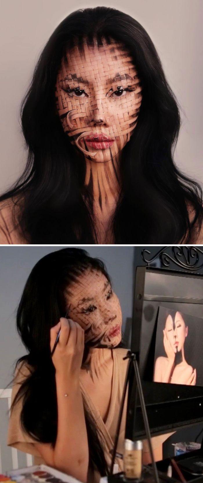 O que este artista faz com o rosto dela mexe seriamente com a sua mente (36 fotos) 23
