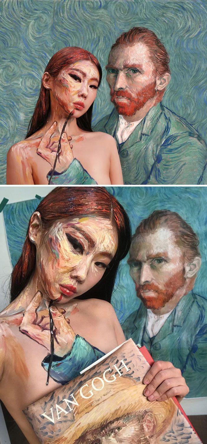 O que este artista faz com o rosto dela mexe seriamente com a sua mente (36 fotos) 27