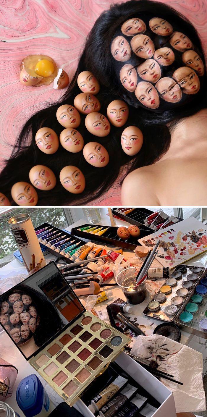 O que este artista faz com o rosto dela mexe seriamente com a sua mente (36 fotos) 30