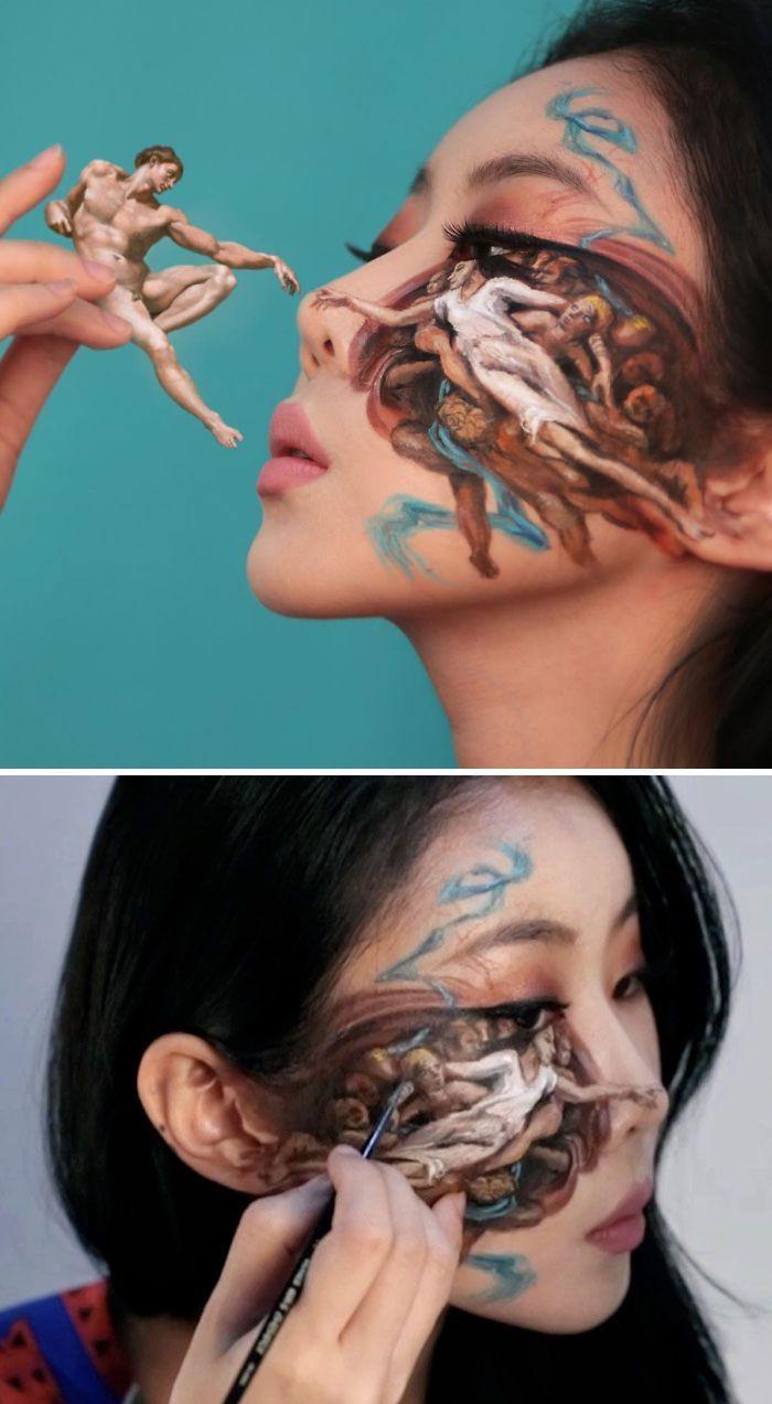 O que este artista faz com o rosto dela mexe seriamente com a sua mente (36 fotos) 31