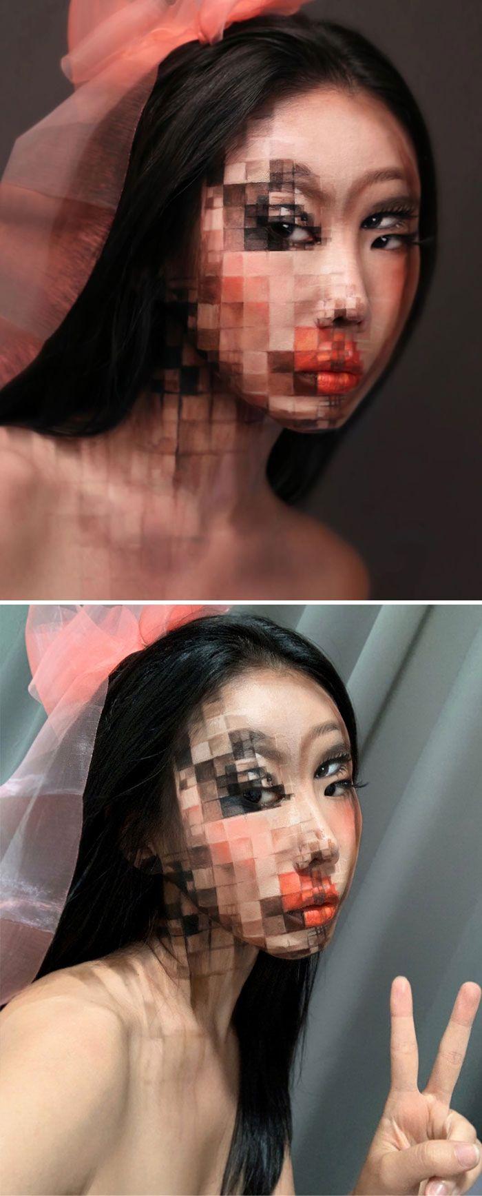 O que este artista faz com o rosto dela mexe seriamente com a sua mente (36 fotos) 33