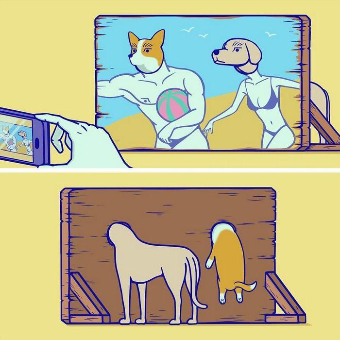 32 quadrinhos estranhamente engraçados que mostram o que aconteceria se o karma fosse real 6