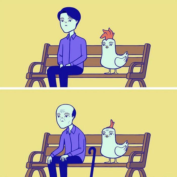 32 quadrinhos estranhamente engraçados que mostram o que aconteceria se o karma fosse real 8