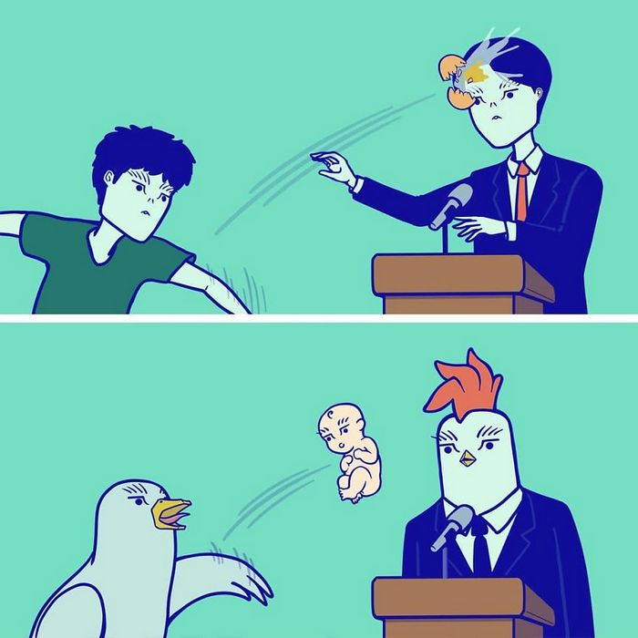 32 quadrinhos estranhamente engraçados que mostram o que aconteceria se o karma fosse real 12
