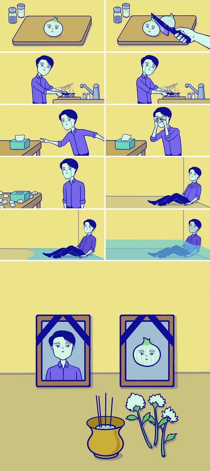 32 quadrinhos estranhamente engraçados que mostram o que aconteceria se o karma fosse real 25