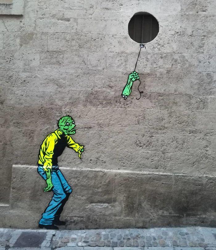 Artista dá vida às ruas simples adicionando personagens divertidos (34 fotos) 3