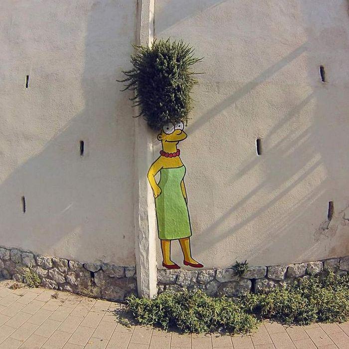 Artista dá vida às ruas simples adicionando personagens divertidos (34 fotos) 7