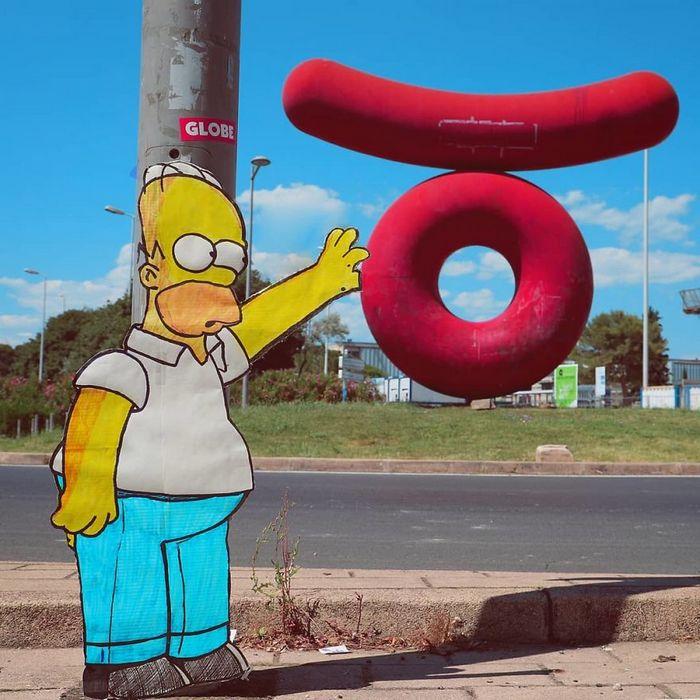 Artista dá vida às ruas simples adicionando personagens divertidos (34 fotos) 11
