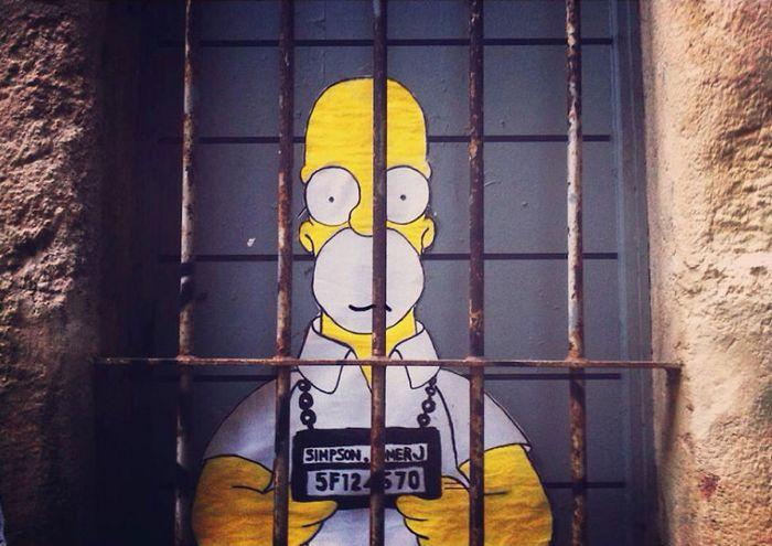 Artista dá vida às ruas simples adicionando personagens divertidos (34 fotos) 14