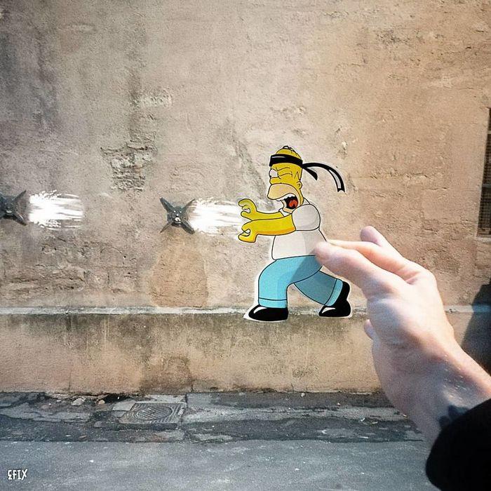 Artista dá vida às ruas simples adicionando personagens divertidos (34 fotos) 22