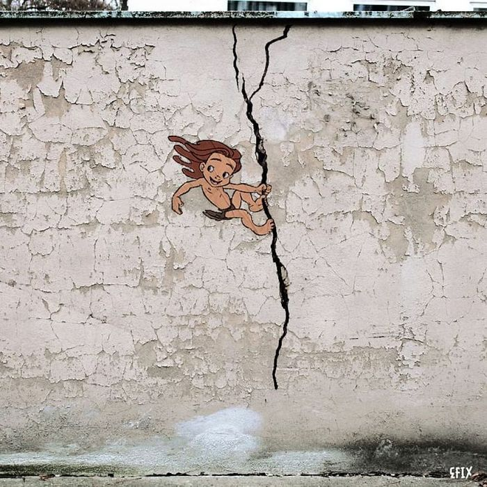 Artista dá vida às ruas simples adicionando personagens divertidos (34 fotos) 24