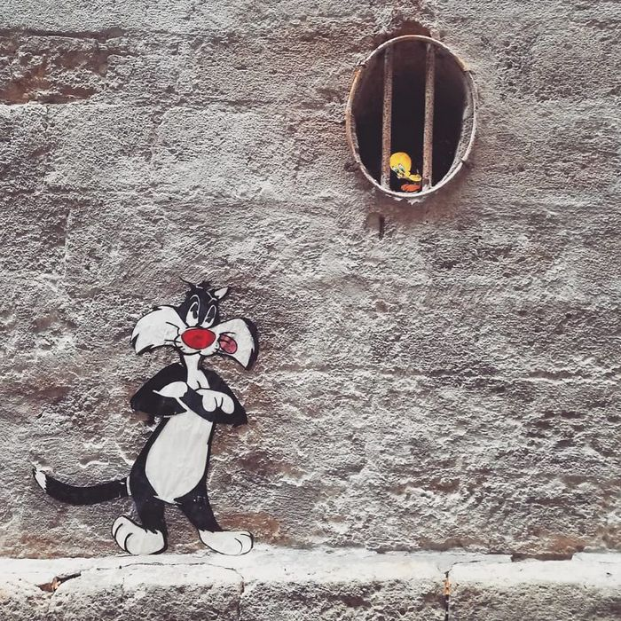 Artista dá vida às ruas simples adicionando personagens divertidos (34 fotos) 25