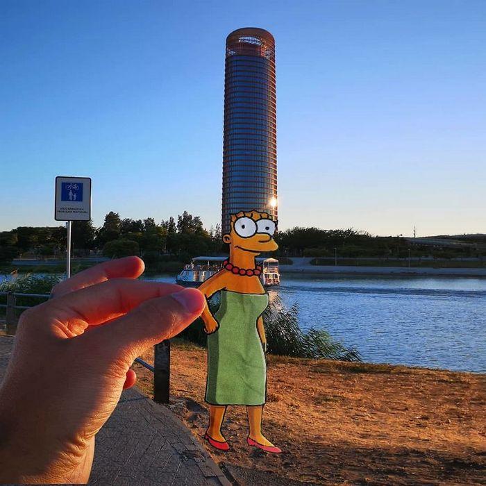 Artista dá vida às ruas simples adicionando personagens divertidos (34 fotos) 33