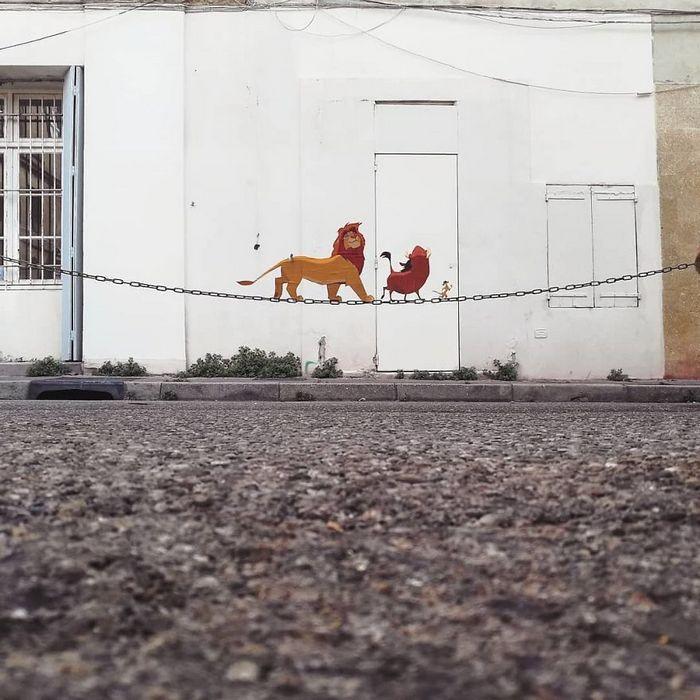 Artista dá vida às ruas simples adicionando personagens divertidos (34 fotos) 34