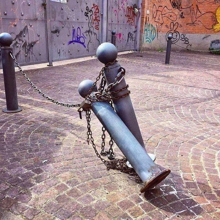 Artista dá vida às ruas simples adicionando personagens divertidos (34 fotos) 35