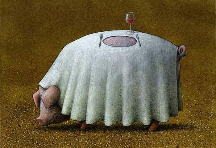 Artista polonês cria 35 metáforas surpreendentemente precisas sobre nossa sociedade moderna 5