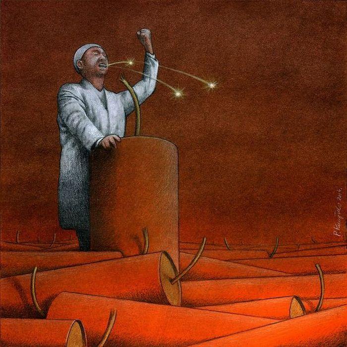 Artista polonês cria 35 metáforas surpreendentemente precisas sobre nossa sociedade moderna 12