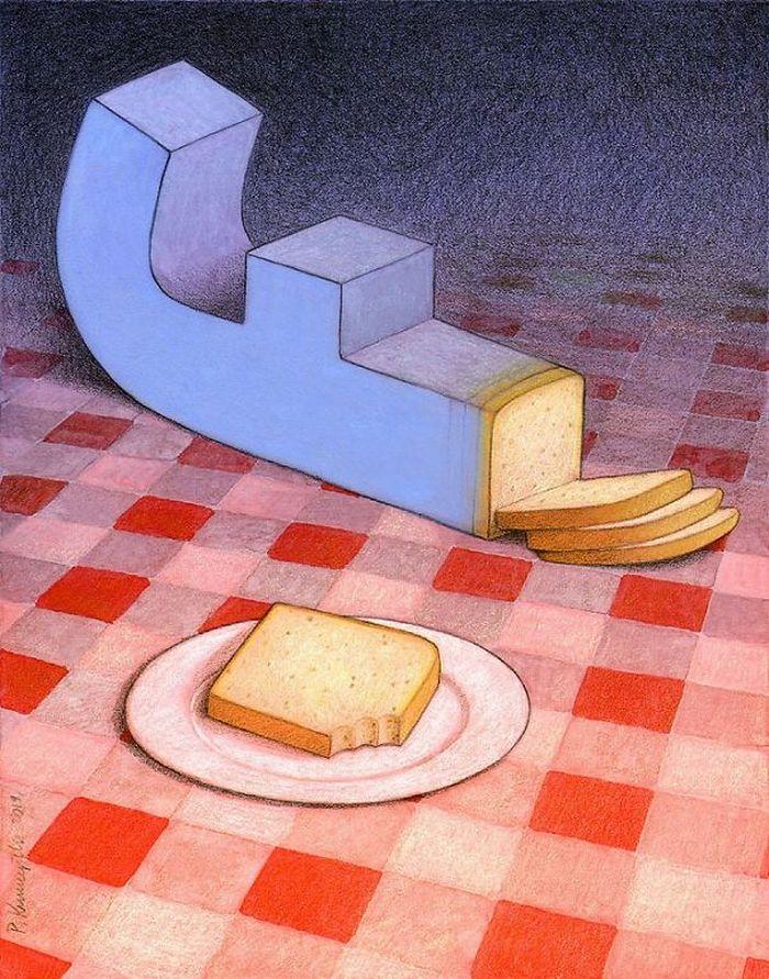 Artista polonês cria 35 metáforas surpreendentemente precisas sobre nossa sociedade moderna 14