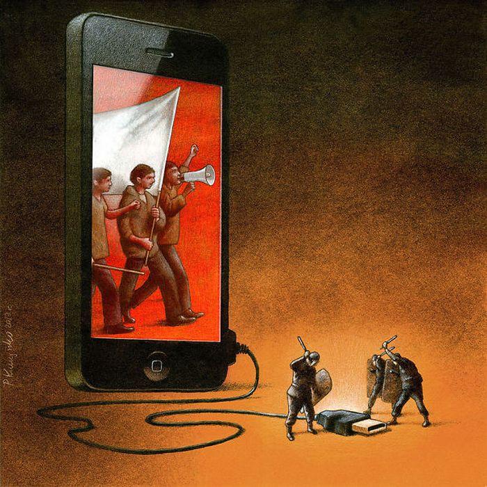 Artista polonês cria 35 metáforas surpreendentemente precisas sobre nossa sociedade moderna 22