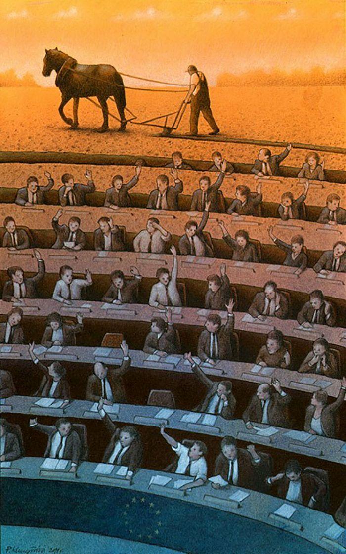 Artista polonês cria 35 metáforas surpreendentemente precisas sobre nossa sociedade moderna 26