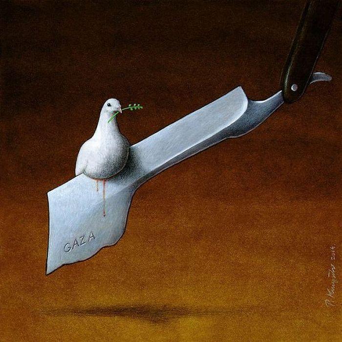 Artista polonês cria 35 metáforas surpreendentemente precisas sobre nossa sociedade moderna 32
