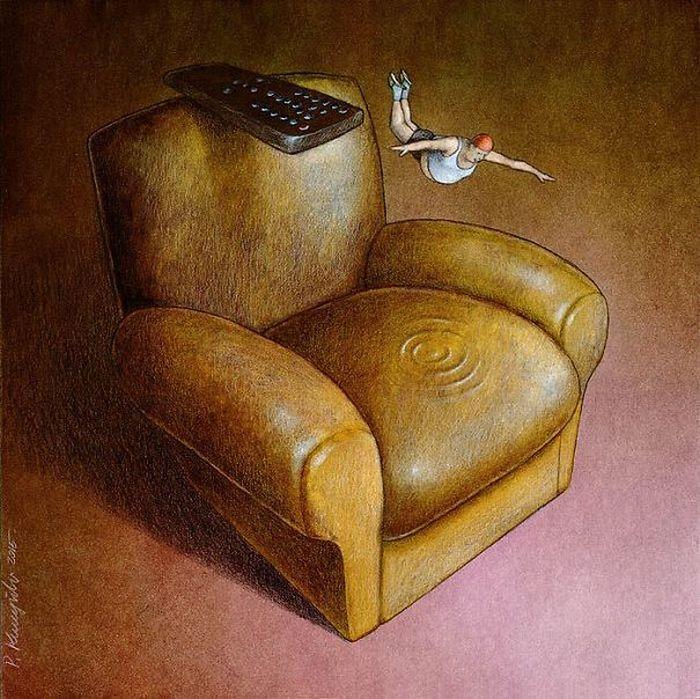 Artista polonês cria 35 metáforas surpreendentemente precisas sobre nossa sociedade moderna 34