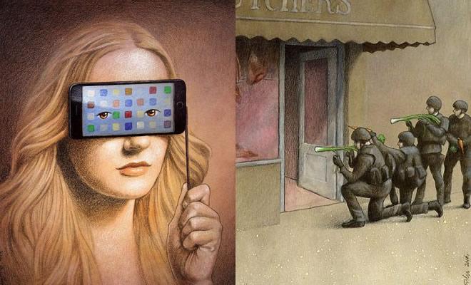 Artista polonês cria 35 metáforas surpreendentemente precisas sobre nossa sociedade moderna 3