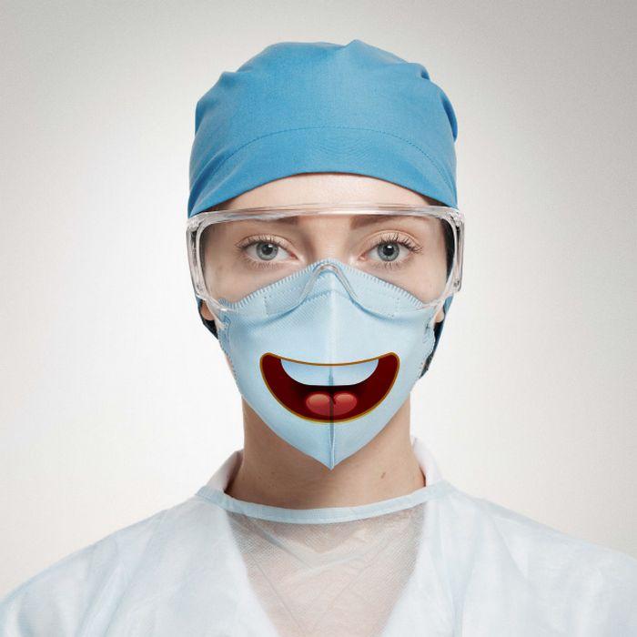 Bem a tempo do surto de coronavírus: máscaras de proteção incomuns (21 fotos) 2