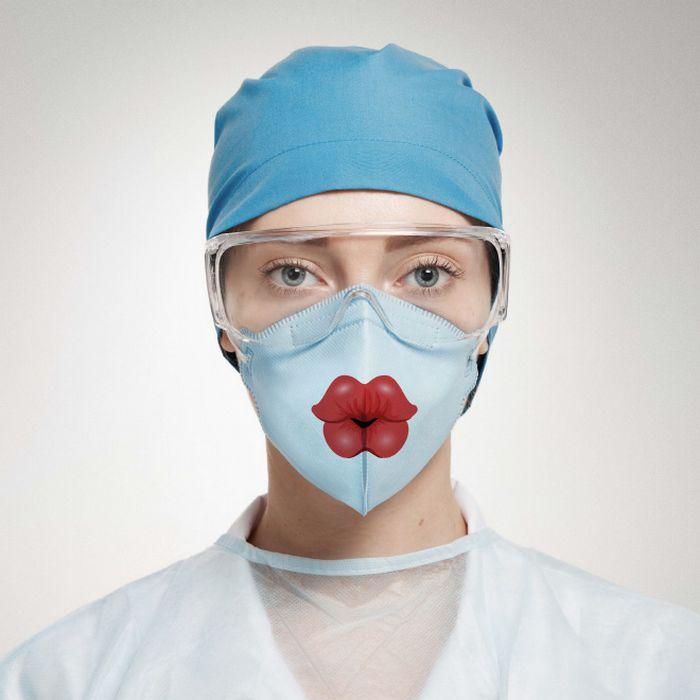Bem a tempo do surto de coronavírus: máscaras de proteção incomuns (21 fotos) 3