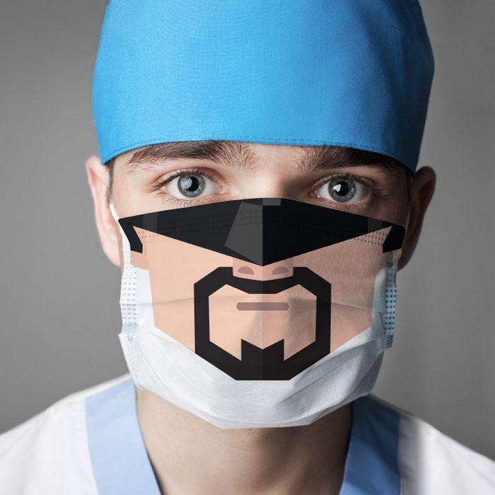 Bem a tempo do surto de coronavírus: máscaras de proteção incomuns (21 fotos) 6