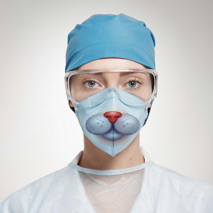 Bem a tempo do surto de coronavírus: máscaras de proteção incomuns (21 fotos) 10