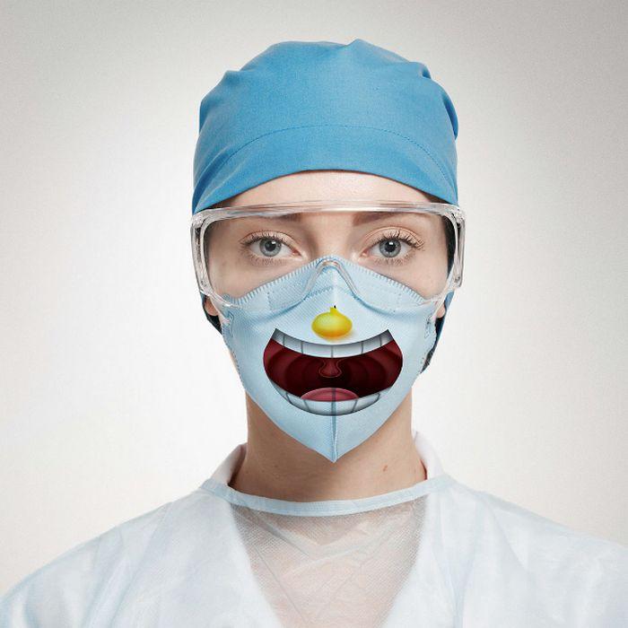 Bem a tempo do surto de coronavírus: máscaras de proteção incomuns (21 fotos) 16
