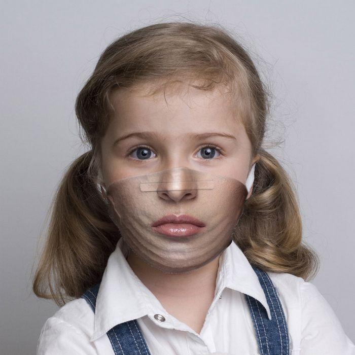 Bem a tempo do surto de coronavírus: máscaras de proteção incomuns (21 fotos) 17