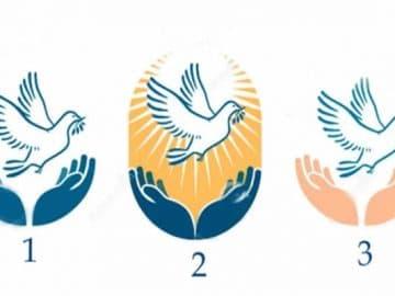 Escolha uma pomba e receba uma palavra de paz e conforto