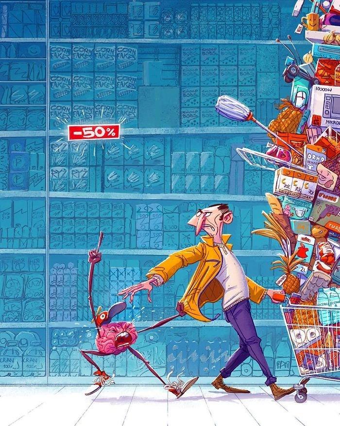 32 ilustrações deste artista que descrevem o lado sombrio da sociedade em que vivemos 6