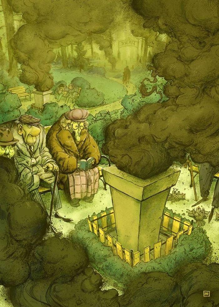 32 ilustrações deste artista que descrevem o lado sombrio da sociedade em que vivemos 13