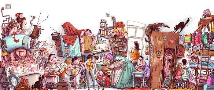 32 ilustrações deste artista que descrevem o lado sombrio da sociedade em que vivemos 23