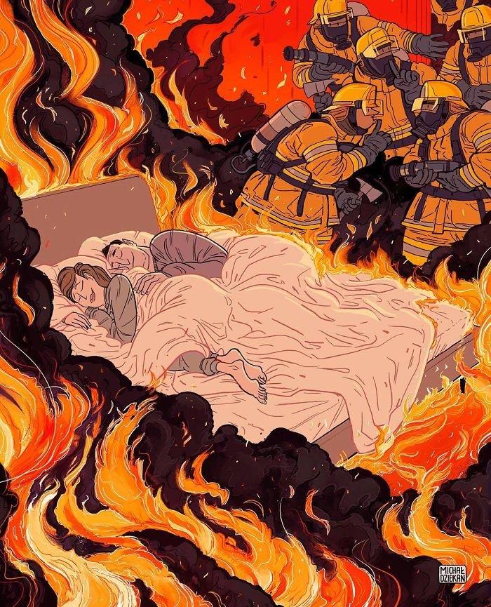 32 ilustrações deste artista que descrevem o lado sombrio da sociedade em que vivemos 24