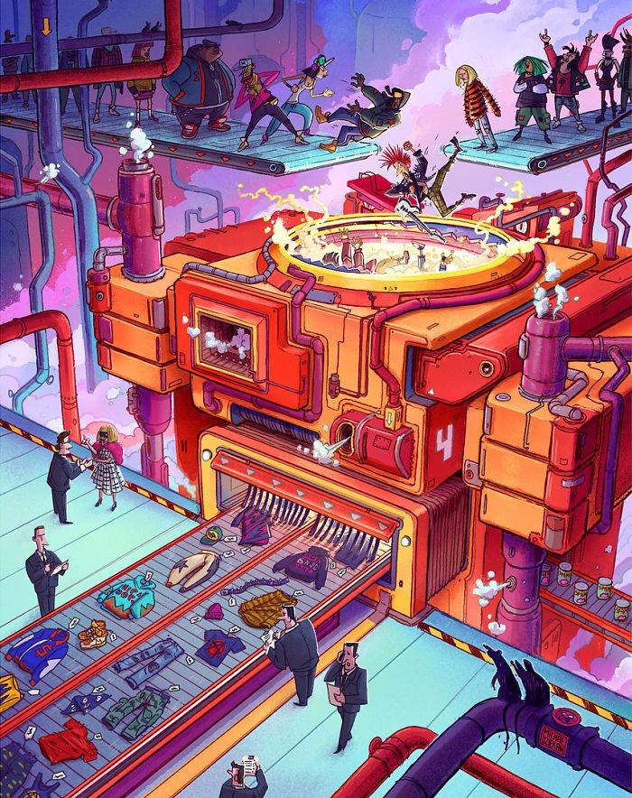 32 ilustrações deste artista que descrevem o lado sombrio da sociedade em que vivemos 31