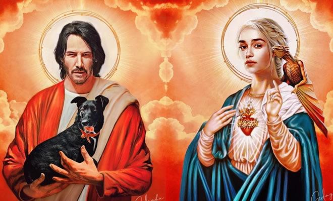 22 personagens famosos da cultura pop transformados em figuras sagradas 3