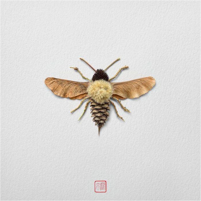 37 retratos delicados de animais criados a partir de coisas encontradas na natureza por Raku Inoue 5