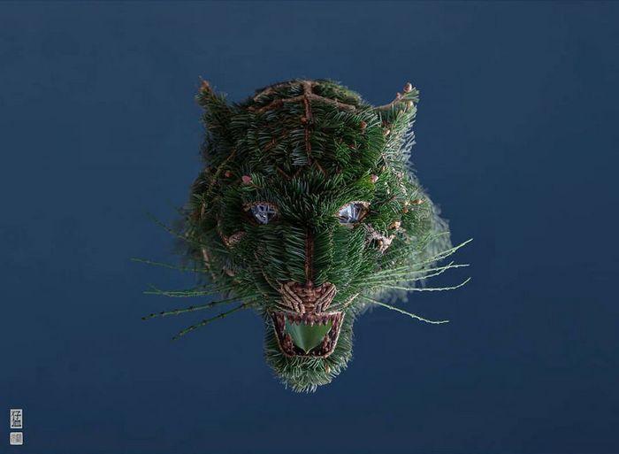 37 retratos delicados de animais criados a partir de coisas encontradas na natureza por Raku Inoue 11