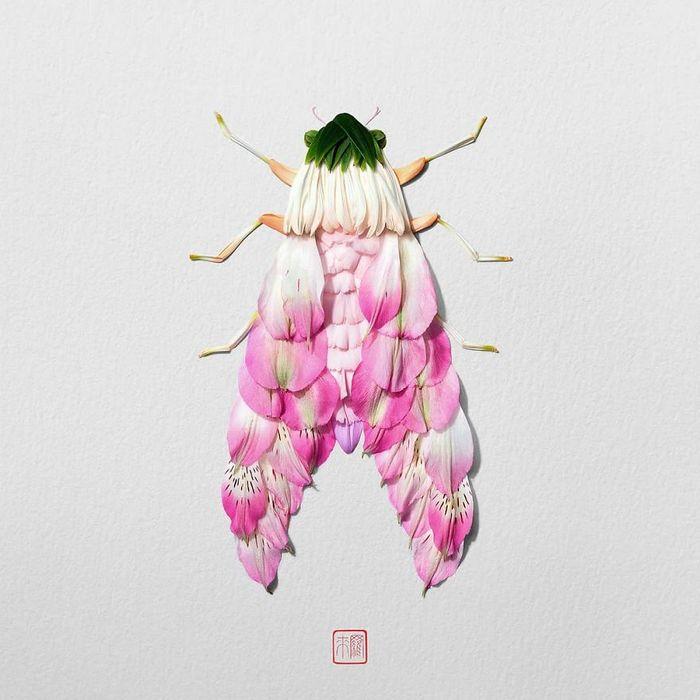 37 retratos delicados de animais criados a partir de coisas encontradas na natureza por Raku Inoue 23