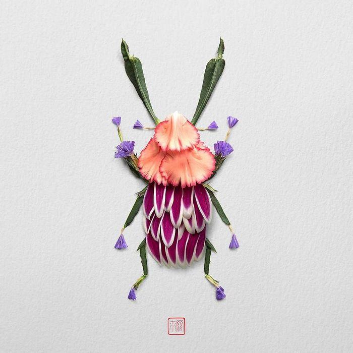 37 retratos delicados de animais criados a partir de coisas encontradas na natureza por Raku Inoue 31