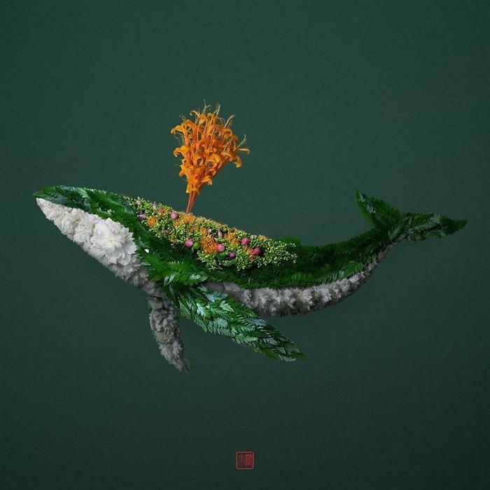 37 retratos delicados de animais criados a partir de coisas encontradas na natureza por Raku Inoue 38