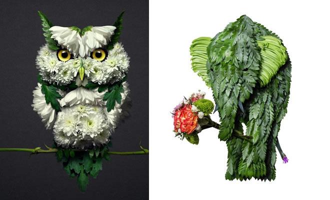 37 retratos delicados de animais criados a partir de coisas encontradas na natureza por Raku Inoue 2