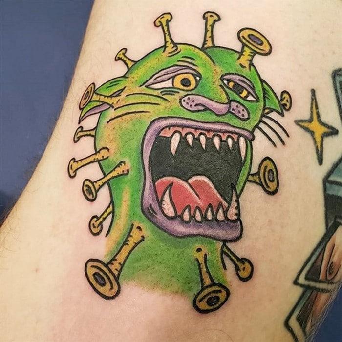 Algumas pessoas estão fazendo tatuagens inspiradas no covid-19 (21 fotos) 11