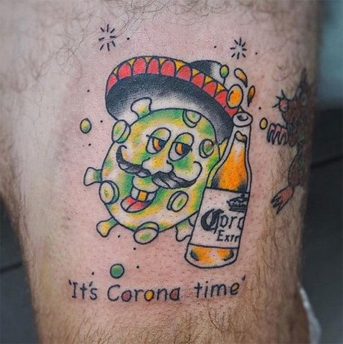 Algumas pessoas estão fazendo tatuagens inspiradas no covid-19 (21 fotos) 14